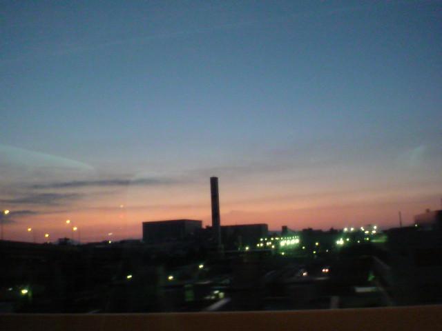 今日の博多の夕焼けから...。