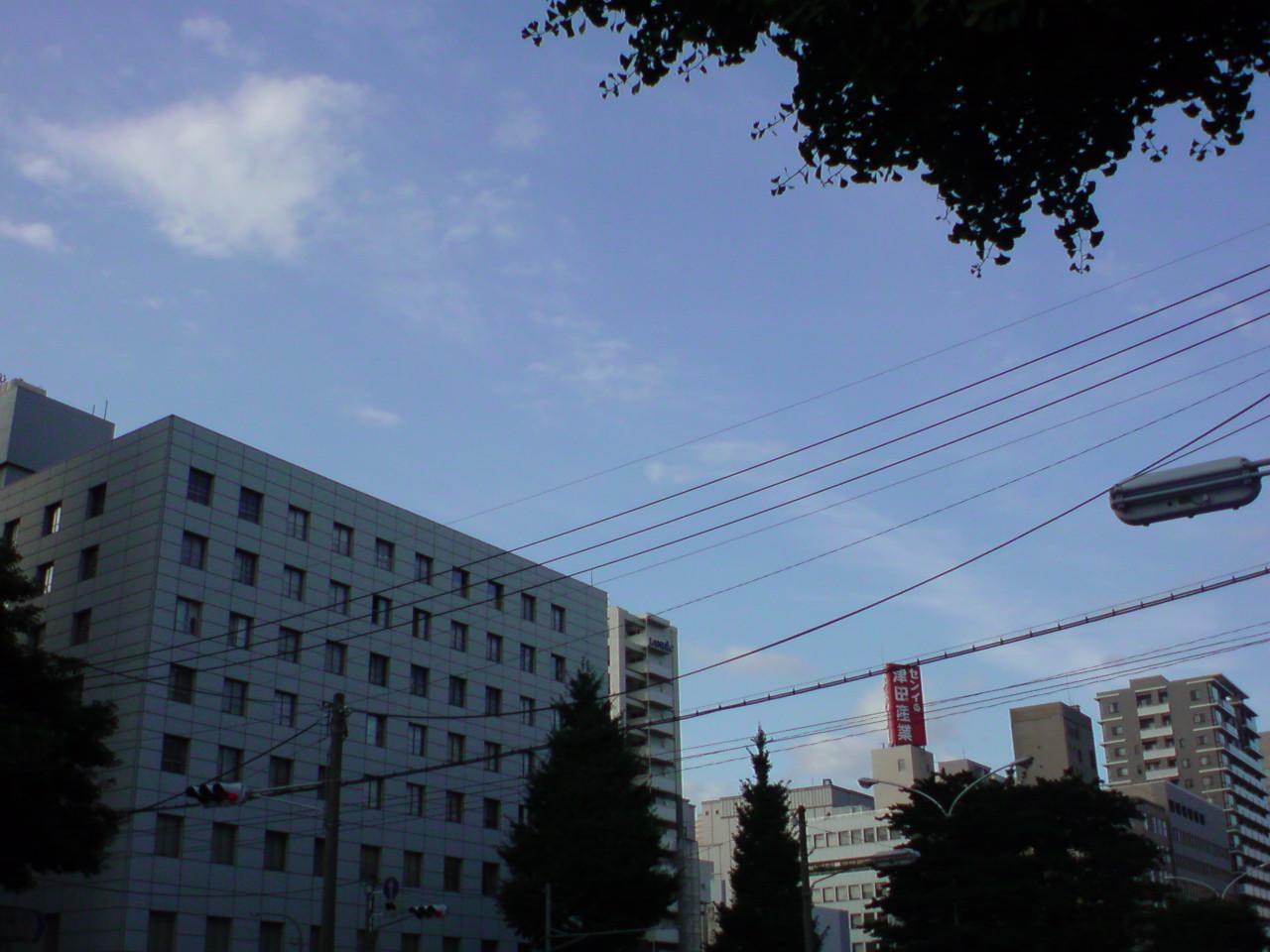 雲の合間からお日様が差しいます。